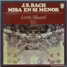 Discos de vinilo: CAJA LP. MISA EN SI MENOR. BACH. Lote 234168195