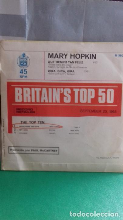 Discos de vinilo: MARY HOPKIN. QUE TIEMPO TAN FELIZ..APLE DE THE BEATLES - Foto 2 - 278868248