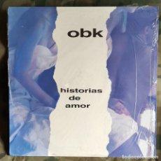 Discos de vinilo: OBK – HISTORIAS DE AMOR SPAIN 1992 SYNTH-POP. Lote 234176375