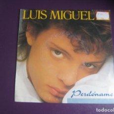 Disques de vinyle: LUIS MIGUEL - SG WEA PROMOCIONAL 1987 - PERDONAME/ SOY COMO QUIERO SER - MEXICO FANS. Lote 234180170
