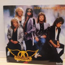 "Discos de vinilo: AEROSMITH - DUDE (LOOKS LIKE A LADY ) SINGLE VINILO 7"" - AÑO 1987 - EDICIÓN UK. BUEN ESTADO. Lote 234289220"