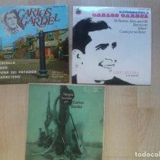 Discos de vinilo: LOTE DE 3 EPS, DE CARLOS GARDEL,. Lote 234291385