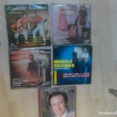 Discos de vinilo: LOTE, MANOLO ESCOBAR, 4 ,EPS Y UN SINGLE. Lote 234292035