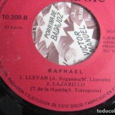 Discos de vinilo: RAPHAEL - EP FUNDADOR 1970 - QUE NO ME DESPIERTE NADIE +3 - POCO USO. Lote 234303680