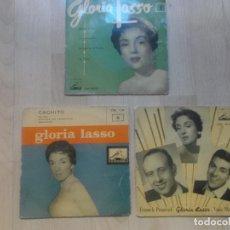 Discos de vinilo: LOTE, GLORIA LASSO, 3 EPS,. Lote 234315285