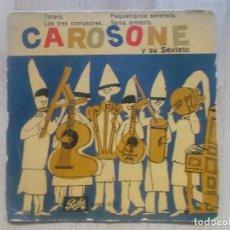 Discos de vinilo: RENATO CAROSONE Y SU SEXTETO -TORERO/PEQUEÑÍSIMA SERENATA+2 (COLUMBIA, EMD 10.021, 7'', EP, 1958 ). Lote 234315620