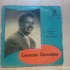 Discos de vinilo: LORENZO GONZÁLEZ Y SU ORQUESTA– NUNCA / POBRE LUNA / VIDITA / OJITOS TRAIDORES- EP ODEON 1958. Lote 234317045