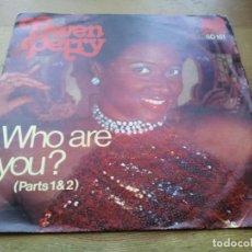 Discos de vinilo: GWEN PERRY - WHO ARE YOU? PARTS 1 Y 2 - SINGLE ORIGINAL DRUMS 1977. Lote 234356320