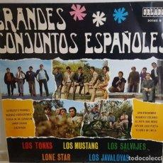 Discos de vinilo: LP DE 10 PULGADAS / GRANDES CONJUNTOS ESPAÑOLES - LOS TONKS, LONE STAR, LOS SALVAJES, LOS MUSTANG. Lote 234362595