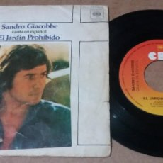 Dischi in vinile: SANDRO GIACOBBE / EL JARDIN PROHIBIDO / SINGLE 7 INCH. Lote 234370205