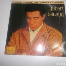 Discos de vinilo: GILBERT - BÈCAUD - ET MAINTENANT - LE CONDAMMÉ - DANS CES MOMENTS-LÀ - TOI LE MUSICIEN. Lote 234381395