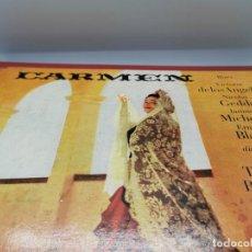Discos de vinilo: CARPETA O ESTUCHE CON 3 DISCOS DE VINILO CARMEN DE BIZET CON VICTORIA DE LOS ANGELES. Lote 234381765