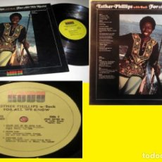 Discos de vinilo: ESTHER PHILLIPS - WITH BECK FOR ALL WE KNOW 76 !! JOE BECK, ORIG USA EDIT !! TODO EXC !!. Lote 234383055