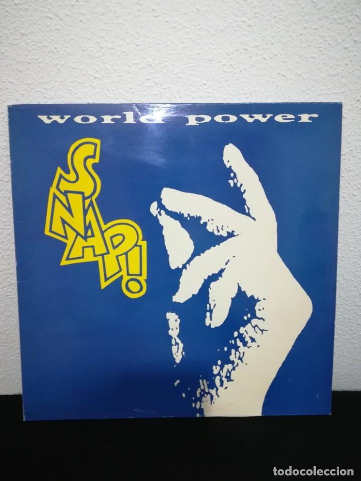 LP SNAP! - WORLD POWER (LP, ALBUM), SPAIN 1990, INSERTS (Música - Discos - LP Vinilo - Techno, Trance y House)