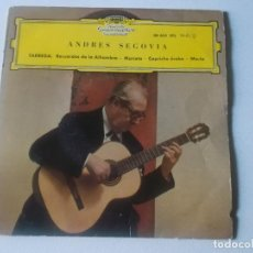 Discos de vinilo: ANDRÉS SEGOVIA – TARREGA: RECUERDOS DE ALHAMBRA - MARIETA - CAPRICHO ÁRABE - MARIA - EP 1962. Lote 234395580