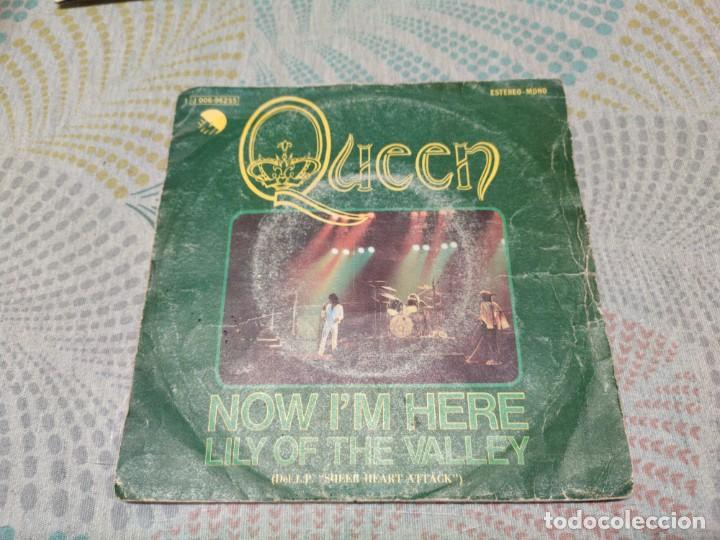 QUEEN. NOW IM HERE. SINGLE ESPAÑA (Música - Discos - Singles Vinilo - Pop - Rock - Extranjero de los 70)
