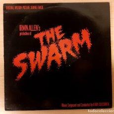 Disques de vinyle: THE SWARM (EL ENJAMBRE) JERRY GOLDSMITH ORIGINAL WARNER BROS 1978 EDICIÓN UK. Lote 234429805