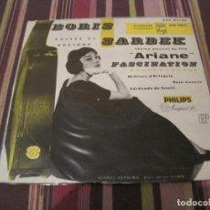 Discos de vinilo: EP BORIS SARBEK ARIANE PHILIPS 424911 FRANCE 196?? AUDREY HEPBURN COVER. Lote 234442540