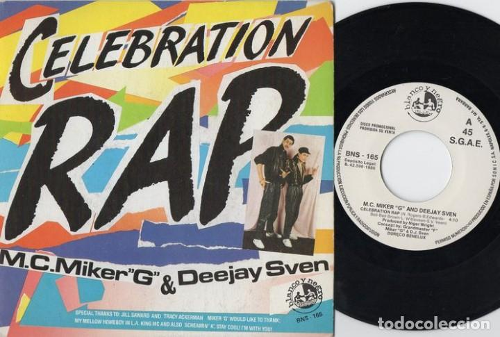 MC MIKER G AND DEEJAY SVEN - CELEBRATION RAP - SINGLE DE VINILO (Música - Discos - Singles Vinilo - Rap / Hip Hop)