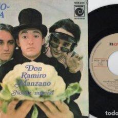 Discos de vinilo: SOPHOQUINA - DON RAMIRO MANZANO - SINGLE DE VINILO. Lote 234456385