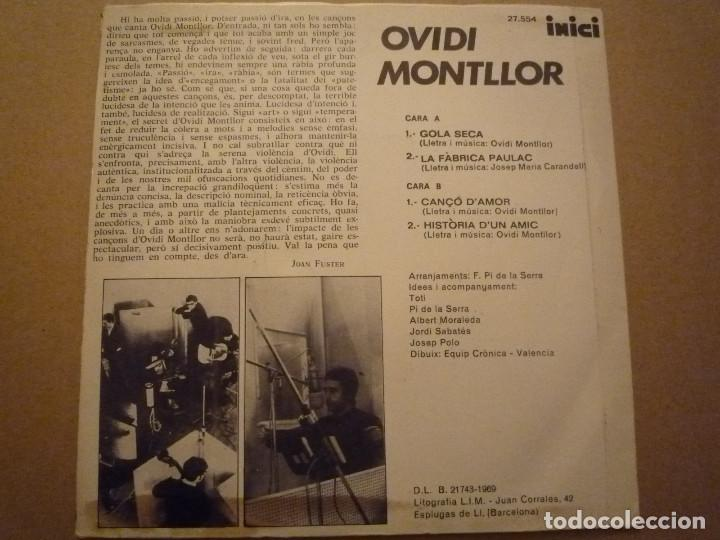 "Discos de vinilo: OVIDI MONTLLOR ""HISTÒRIA DUN AMIC+3"" EP 1969 DISCOPHON - Foto 2 - 234462295"