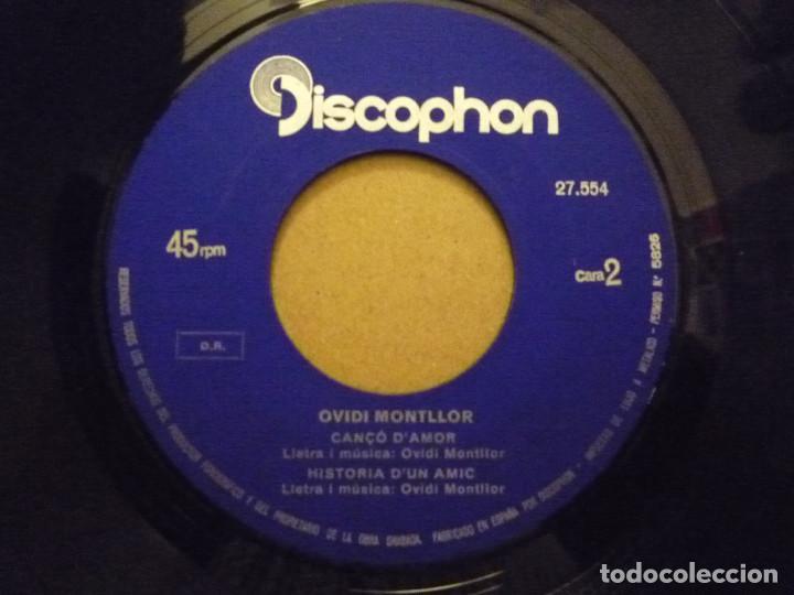 "Discos de vinilo: OVIDI MONTLLOR ""HISTÒRIA DUN AMIC+3"" EP 1969 DISCOPHON - Foto 4 - 234462295"