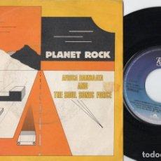 Disques de vinyle: PLANET ROCK - AFRICA BAMBAATA AND THE SOUL SONIC FORCE - SINGLE DE VINILO. Lote 234471810