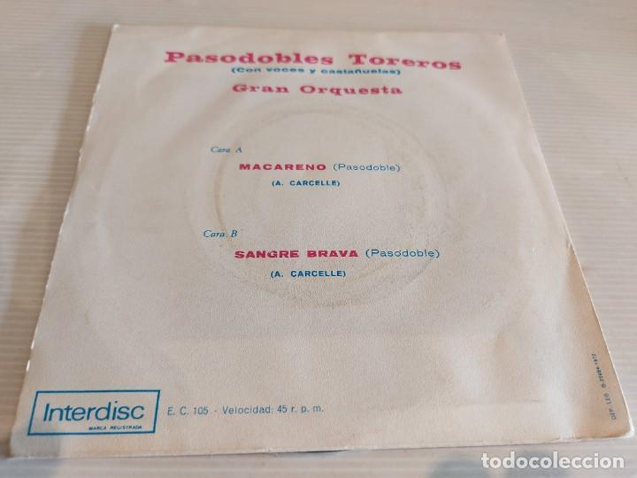 Discos de vinilo: MACARENO Y SANGRE BRAVA. ( VOCES Y CASTAÑUELAS ) SINGLE 1972. SELLO INTERDISC. COMO NUEVO. ****/**** - Foto 2 - 234482020