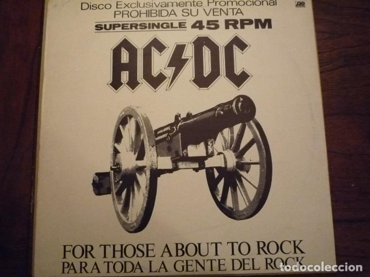 "AC/DC ""FOR THOSE ABOUT TO ROCK"" MAXI PROMO 1981 (Música - Discos de Vinilo - Maxi Singles - Heavy - Metal)"