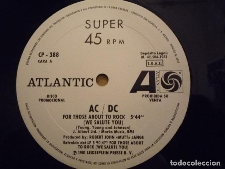 """Discos de vinilo: AC/DC """"FOR THOSE ABOUT TO ROCK"""" MAXI PROMO 1981 - Foto 4 - 234484375"""