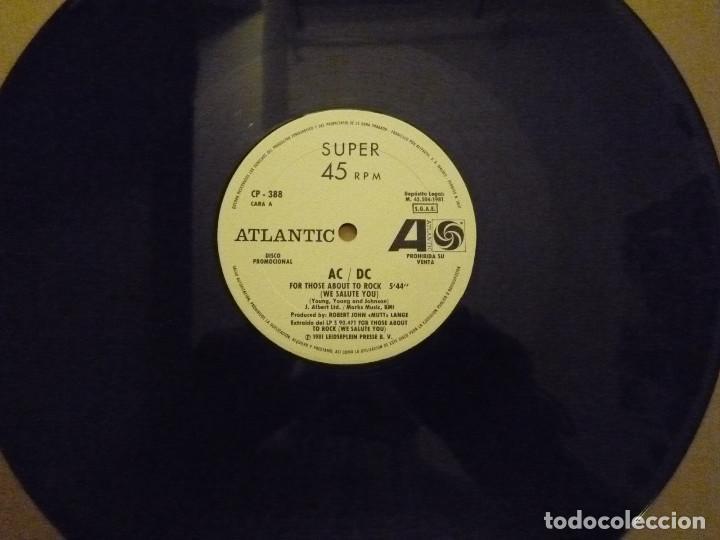 """Discos de vinilo: AC/DC """"FOR THOSE ABOUT TO ROCK"""" MAXI PROMO 1981 - Foto 5 - 234484375"""