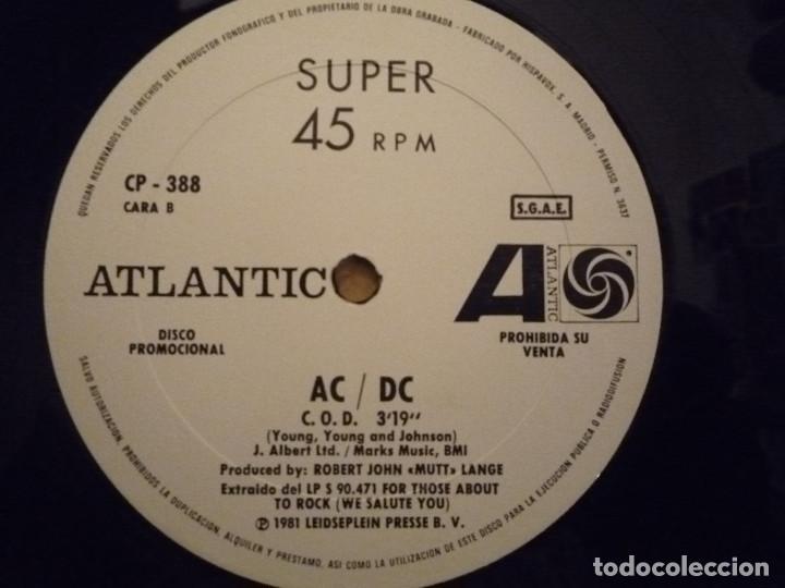 """Discos de vinilo: AC/DC """"FOR THOSE ABOUT TO ROCK"""" MAXI PROMO 1981 - Foto 6 - 234484375"""