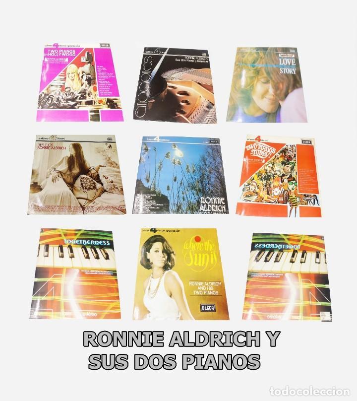 LOTE 9 L.P.S. RONNIE ALDRICH Y SUS DOS PIANOS - PHASE 4 STEREO --TODOS --MINT ( M ) (Música - Discos - LP Vinilo - Orquestas)
