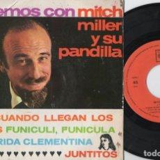 Discos de vinilo: MITCH MILLER Y SU PANDILLA - CUANDO LLEGAN LOS SANTOS - EP DE VINILO. Lote 234489915