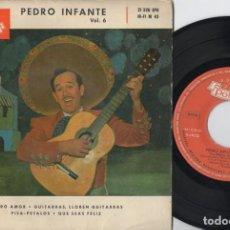 Discos de vinilo: PEDRO INFANTE - PURO AMOR - EP DE VINILO. Lote 234491615