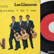 Discos de vinilo: LOS LLANEROS - CONTIGO EN LA DISTANCIA - EP DE VINILO. Lote 234492175