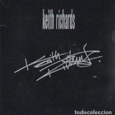 Discos de vinilo: KEITH RICHARDS - CAJA CON 4 SINGLES DE VINILO PROMOCIONALES GRABADOS SOLO POR UNA CARA. Lote 234495765