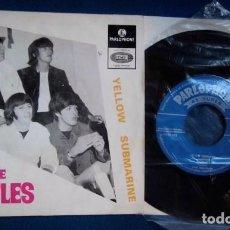 Discos de vinilo: BEATLES SINGLE EP PORTUGAL CON PORTADA DE ELLOS EN MADRID 1965 PARLOPHONE 1966 COLECCION. Lote 234496360