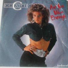 Discos de vinilo: C.C.CATCH, ARE YOU MAN ENOUGH, ED ESPAÑOLA 1987. Lote 234499075