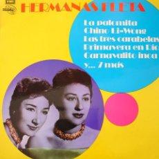 Discos de vinilo: HERMANAS FLETA LP SELLO EMI-REGAL EDITADO EN ESPAÑA AÑO 1972.... Lote 234504720