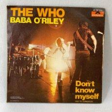 Discos de vinilo: SINGLE THE WHO - BABA O'RILEY - ESPAÑA - AÑO 1973. Lote 234518435