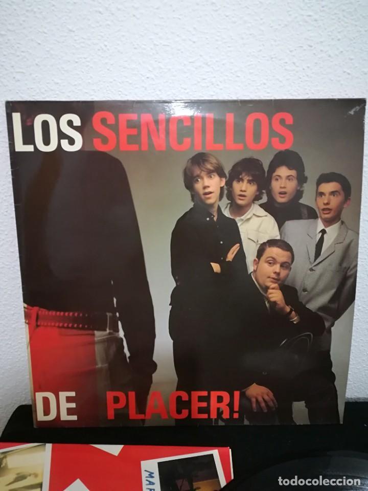 LOS SENCILLOS - DE PLACER! (LP, ALBUM), 1990, EXCELENTE CON INSERT (Música - Discos - LP Vinilo - Grupos Españoles de los 90 a la actualidad)