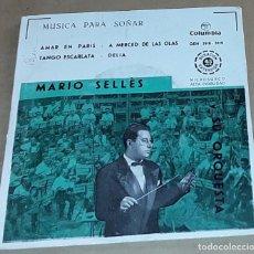 Discos de vinilo: EP- MARIO SELLES - AMAR EN PARIS / A MERCED DE LAS OLAS / TANGO ESCARLATA / DELIA. Lote 234565115
