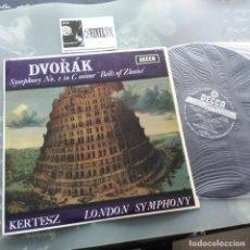 "Discos de vinilo: DVORÁK - KERTESZ SYMPHONY NO. 1 IN C MINOR ""BELLS OF ZLONICE"" LP :DECCA CAT#: LXT 6288. Lote 234576550"