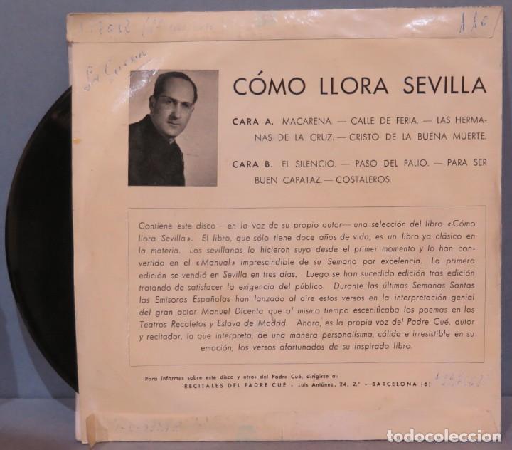 Discos de vinilo: EP. RECITALES DEL PADRE CUE. COMO LLORA SEVILLA - Foto 2 - 234578285