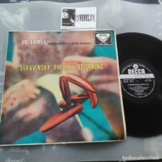Discos de vinilo: STRAVINSKY - ANSERMET, L'ORCHESTRE DE LA SUISSE ROMANDE – THE RITE OF SPRING LP DECCA SXL 2042. Lote 234579280
