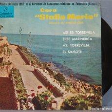 Discos de vinilo: EP. CORO STELLA MARIS. ASI ES TORREVIEJA. Lote 234580065