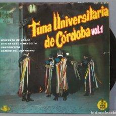 Discos de vinilo: EP. TUNA UNIVERSITARIA DE CORDOBA. VOL. 1. Lote 234580475