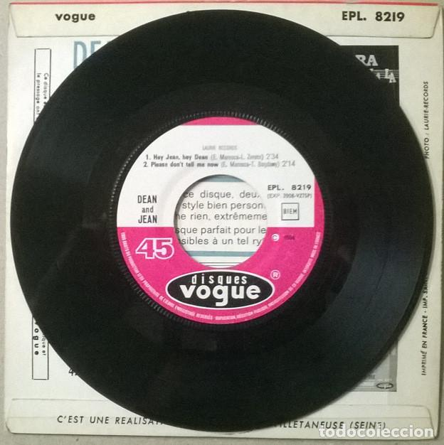 Discos de vinilo: Dean and Jean: Hey/ Please dont tell me now- The Harps: Marie/ Daddys going away again. Vogue 1964 - Foto 4 - 234587690