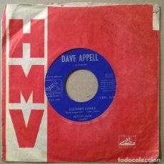 Discos de vinilo: DAVE APPELL. COUNTRY DANCE/ APPLE-JACK/ HAPPY JOSE/ NOIVOUS. LA VOZ DE SU AMO, SPAIN 1962 EP. Lote 234588955